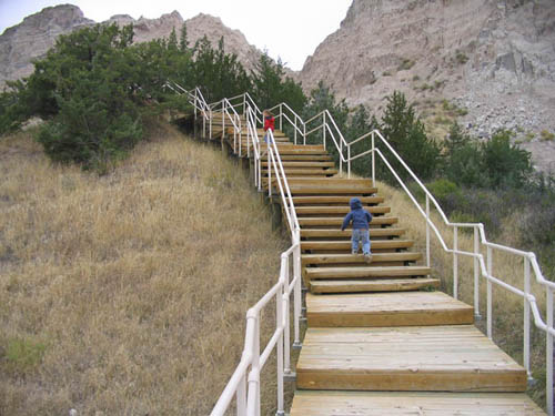 Cliff Shelf Trail, Badlands National Park, Stairs