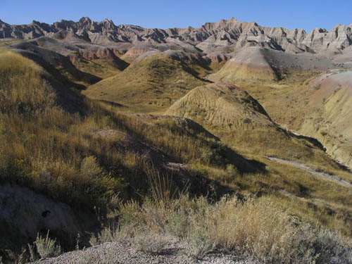 Badlands National Park, Yellow Mounds, Palesol, South Dakota